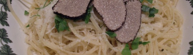 linguine with truffles