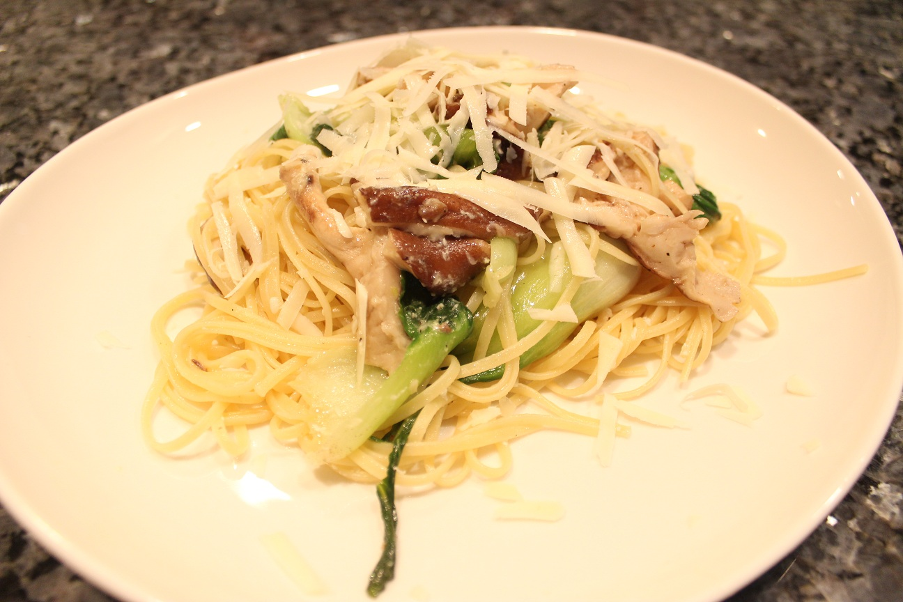 Linguine with Bok Choy and Shiitake Mushrooms