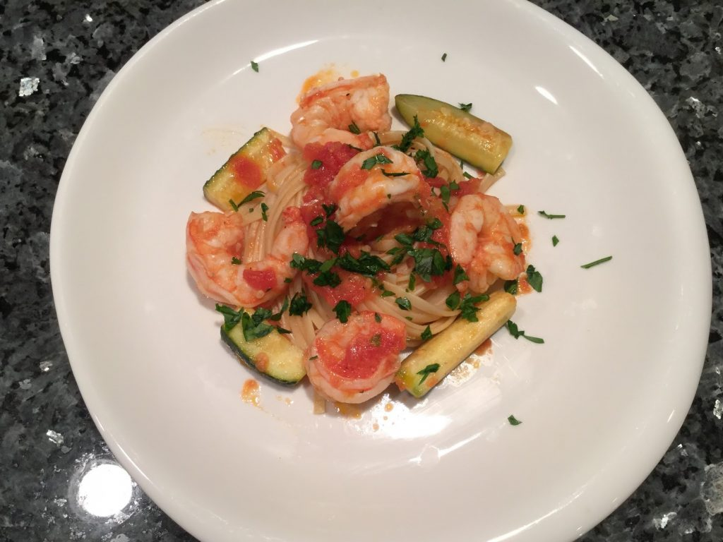 Pasta with Zucchini and Shrimp Recipe