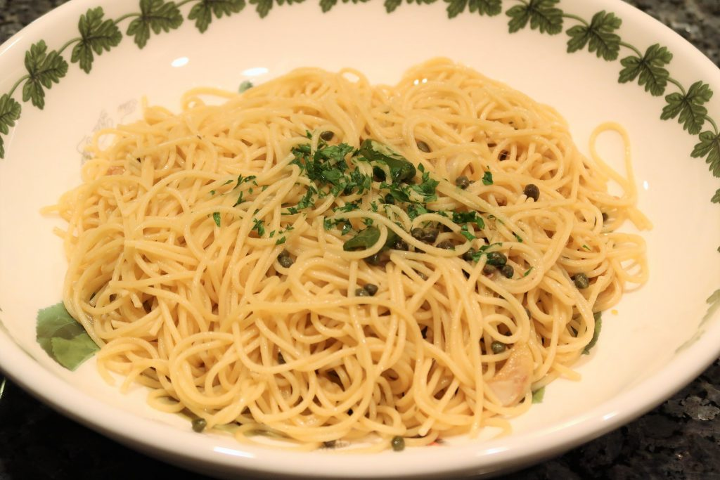 Spaghetti Aglio e Oligo with Anchovies Recipe