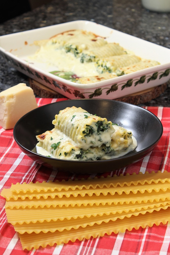 Lasagna Roll Ups with Bechamel Sauce