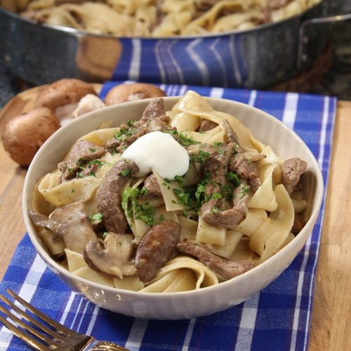 Beef Stroganoff with Pappardelle