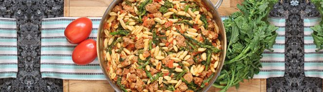 Pasta with Sausage and Broccoli Rabe
