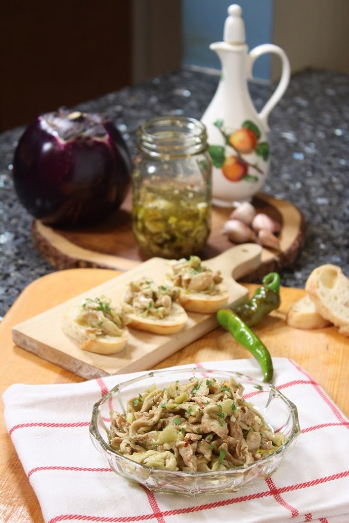 Eggplant in Olive Oil Antipasto