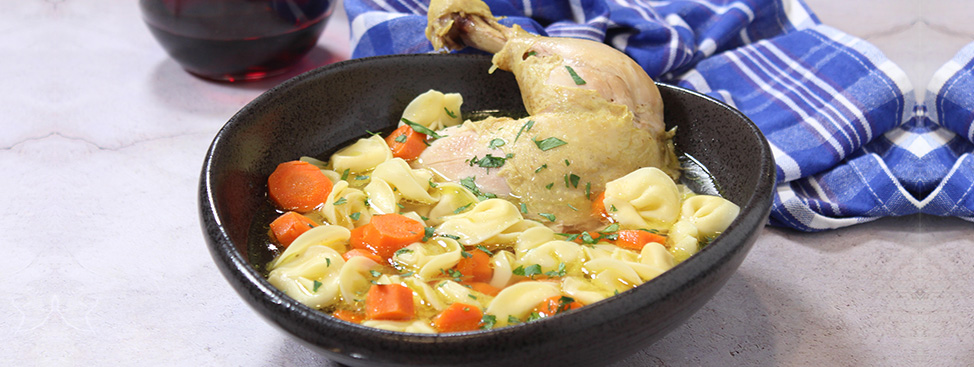 Chicken Soup with Tortellini