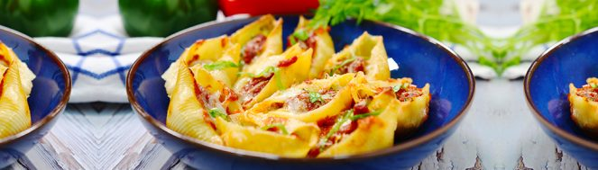 Stuffed Shells with Sausage and Peppers