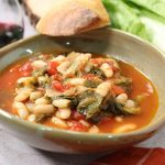 Escarole and Beans in red sauce