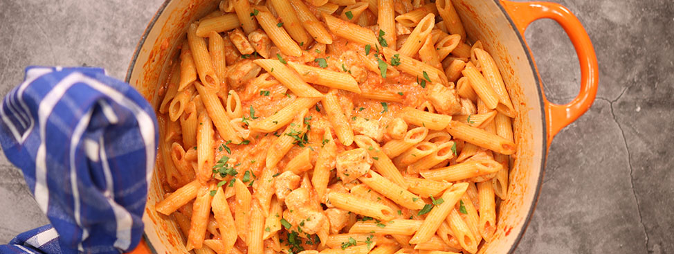 Creamy Penne Alla Vodka with Chicken
