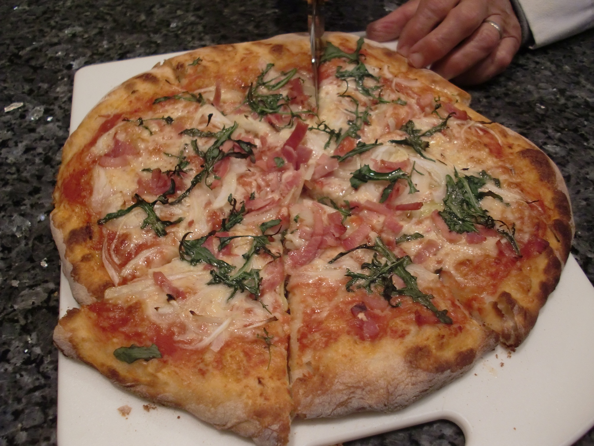 Arugula Prosciutto and Onion Pizza Recipe