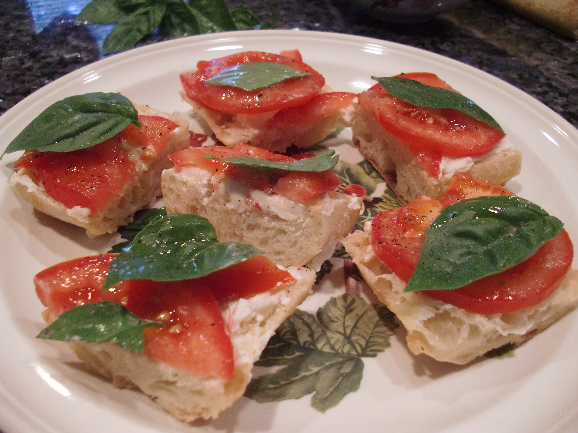 Goat Cheese Bruschetta Appetizer Recipe