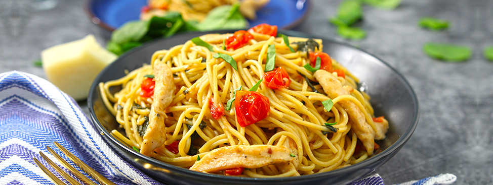 One Pan Pasta with Chicken
