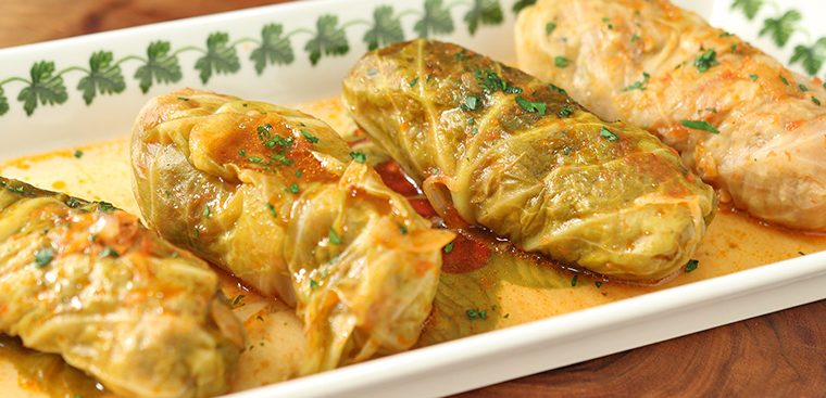 Polish Burritos (Stuffed Cabbage Rolls)