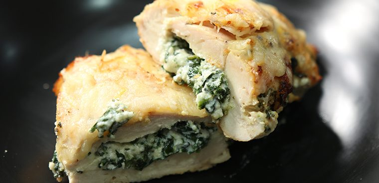 Ricotta and Spinach Stuffed Chicken