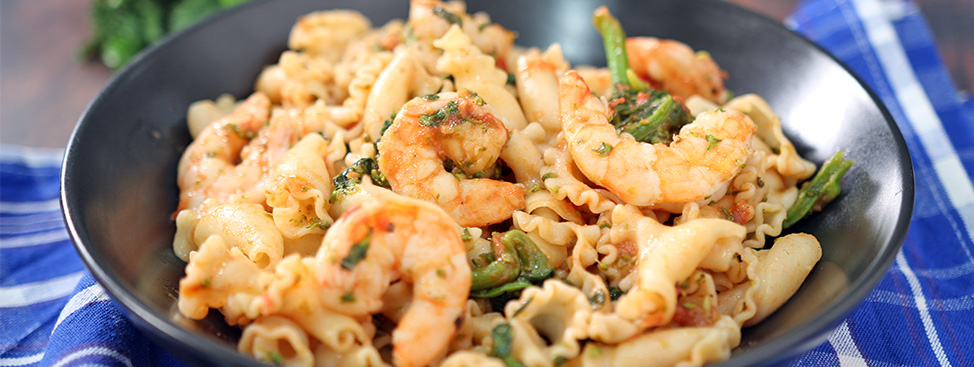 Pasta with Shrimp and Broccoli Rabe