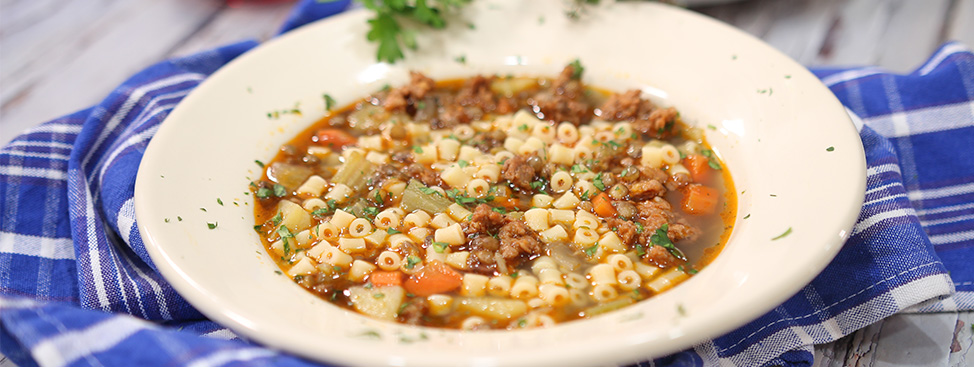 Lentil Soup with Spicy Italian Sausage